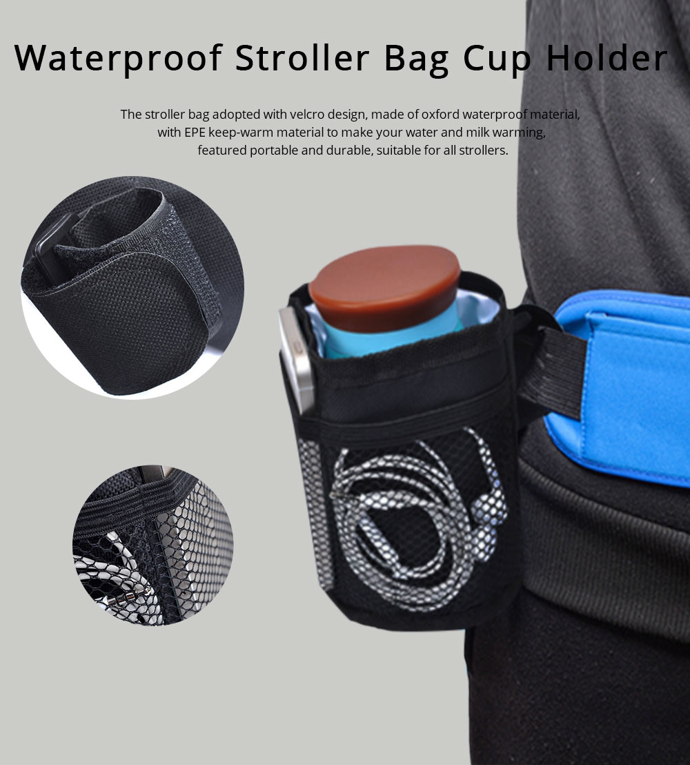 Stroller Cup Holder Organizer - Baby Milk Bottle Bag Stroller Drink Bag 6