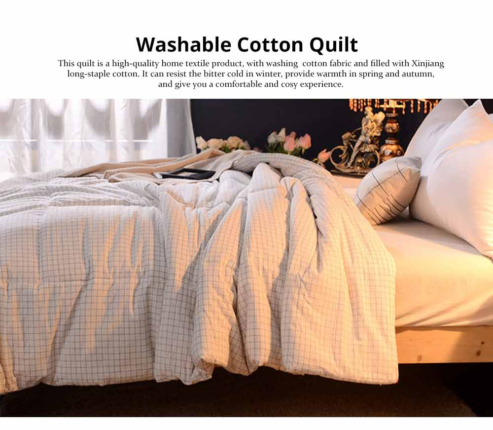 Washable Quilt - Thickened Cotton Bed Sheet Single Double King Size 6