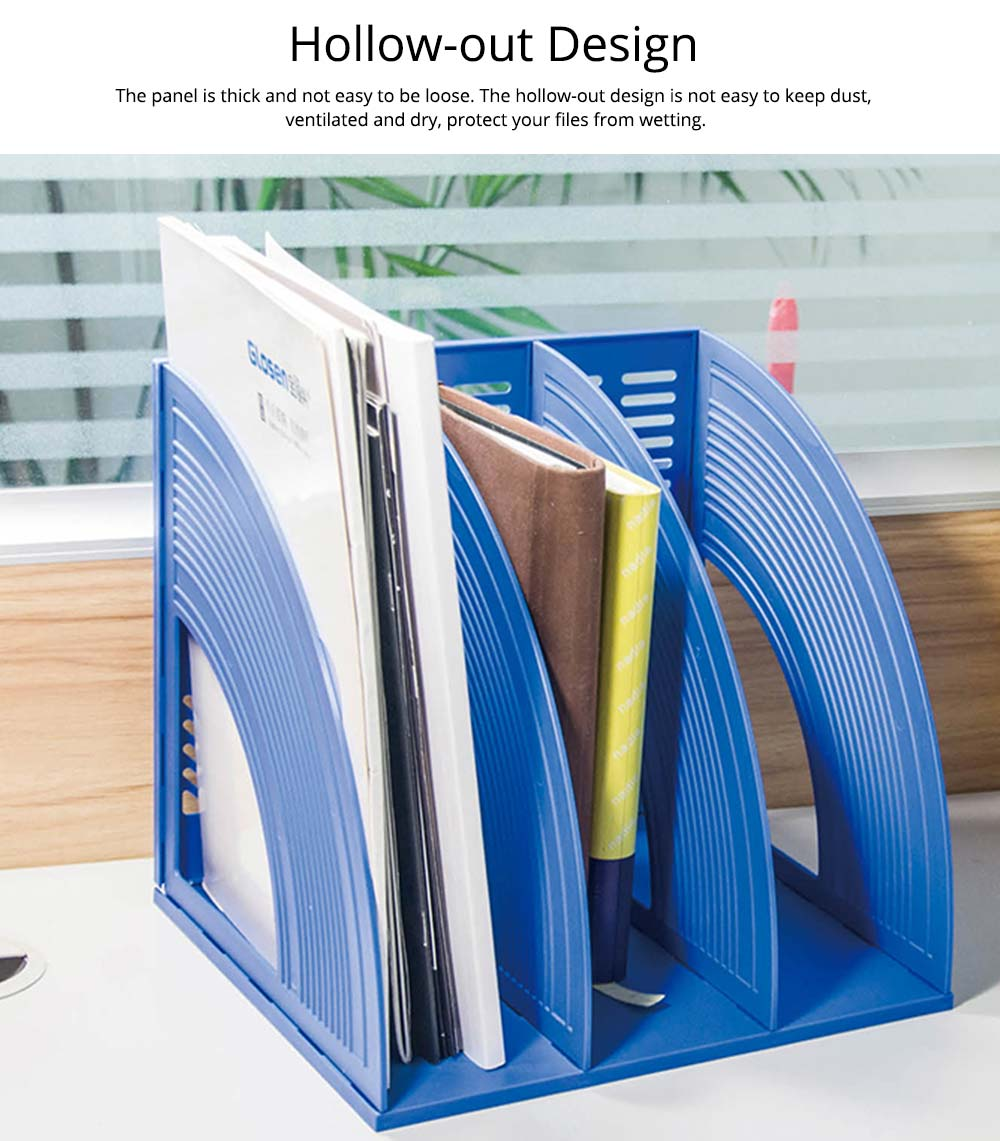 Desk File Holder - Fashion Document Rack Office Organizers Cabinet, Bright Color, HIPS Plastic 12