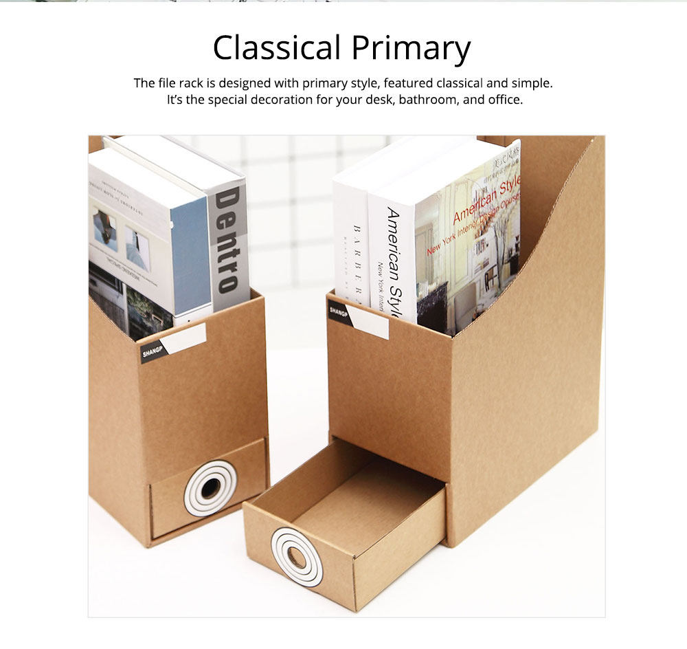 Cardboard File Holder - Waterproof Office Organizers Cabinet Desk Document Rack, 2 Pieces 7