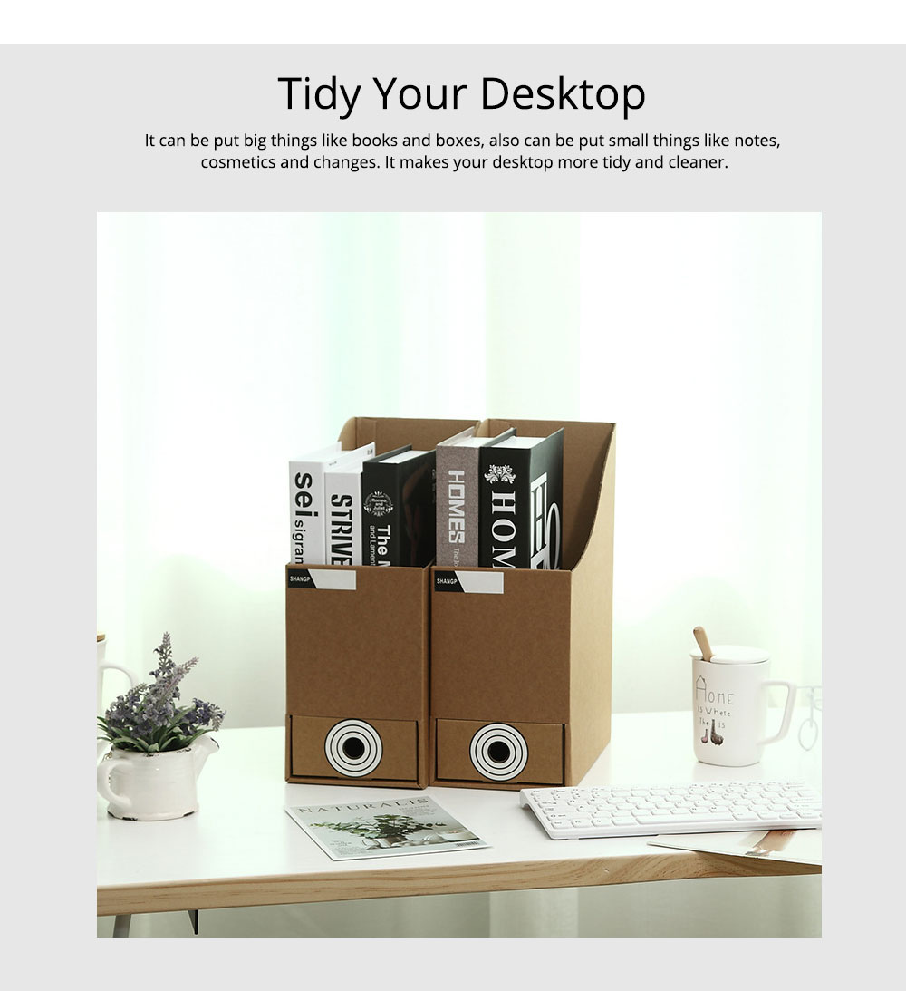 Cardboard File Holder - Waterproof Office Organizers Cabinet Desk Document Rack, 2 Pieces 12