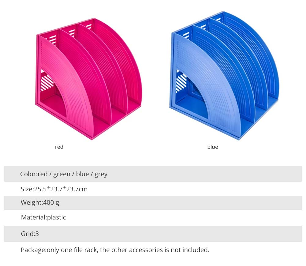 Desk File Holder - Fashion Document Rack Office Organizers Cabinet, Bright Color, HIPS Plastic 20
