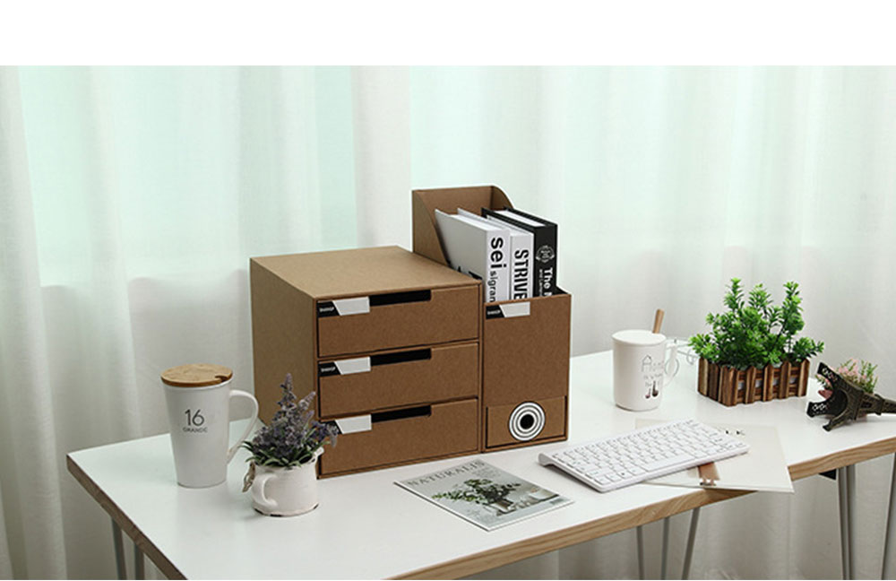 Cardboard File Holder - Waterproof Office Organizers Cabinet Desk Document Rack, 2 Pieces 11