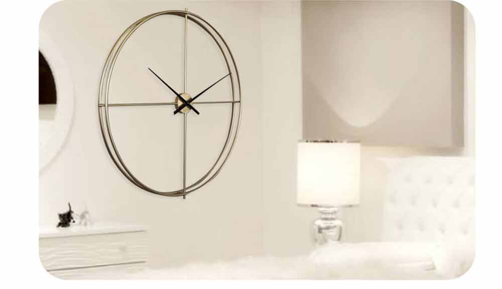 Quartz Wall Clock Round - Minimalist Modern Design Wall Clock 8