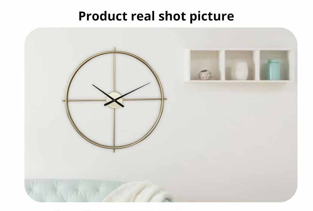 Quartz Wall Clock Round - Minimalist Modern Design Wall Clock 5