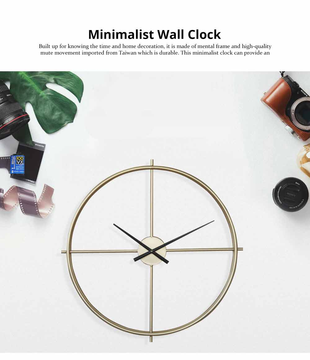 Quartz Wall Clock Round - Minimalist Modern Design Wall Clock 0