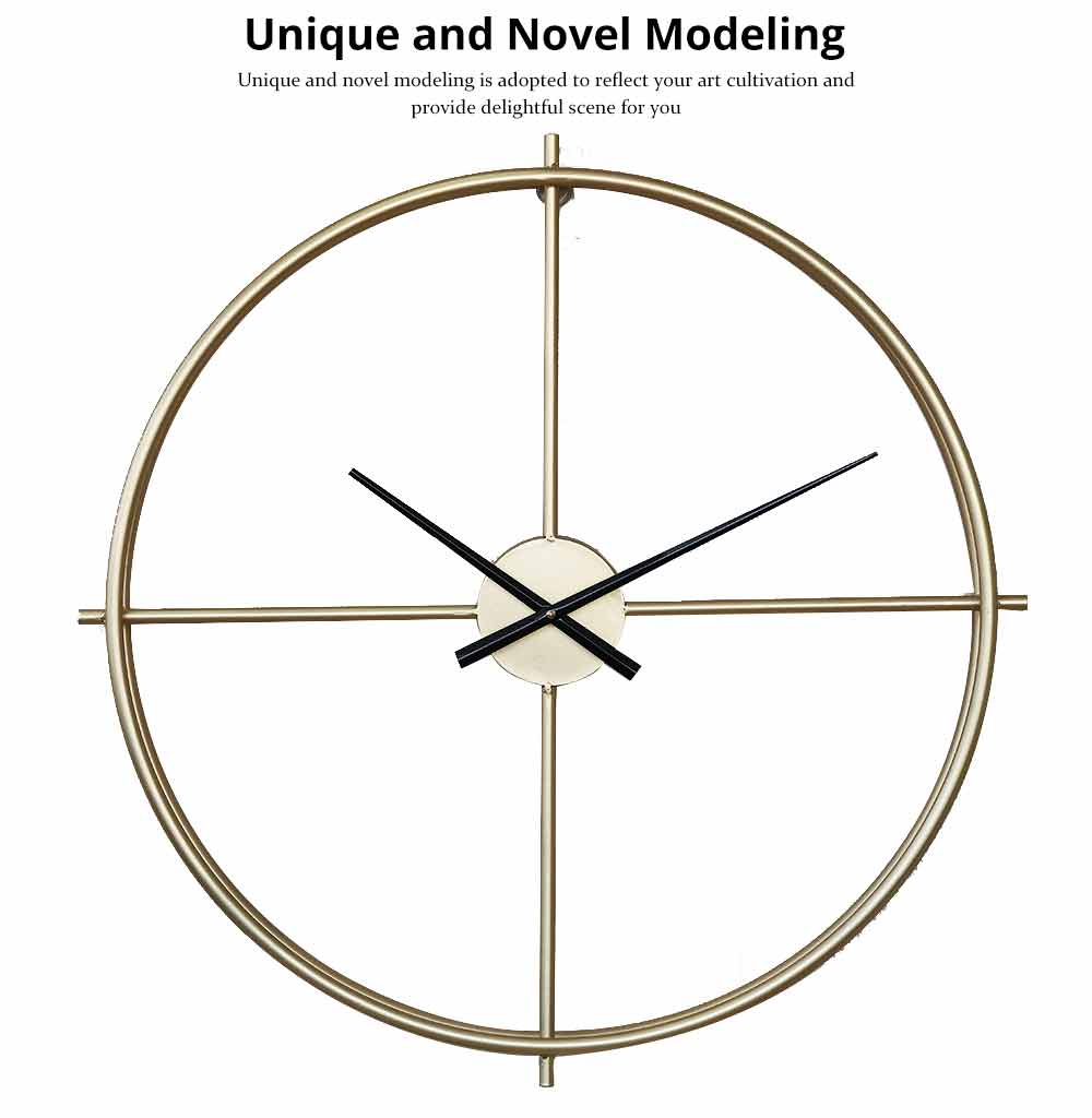Quartz Wall Clock Round - Minimalist Modern Design Wall Clock 1