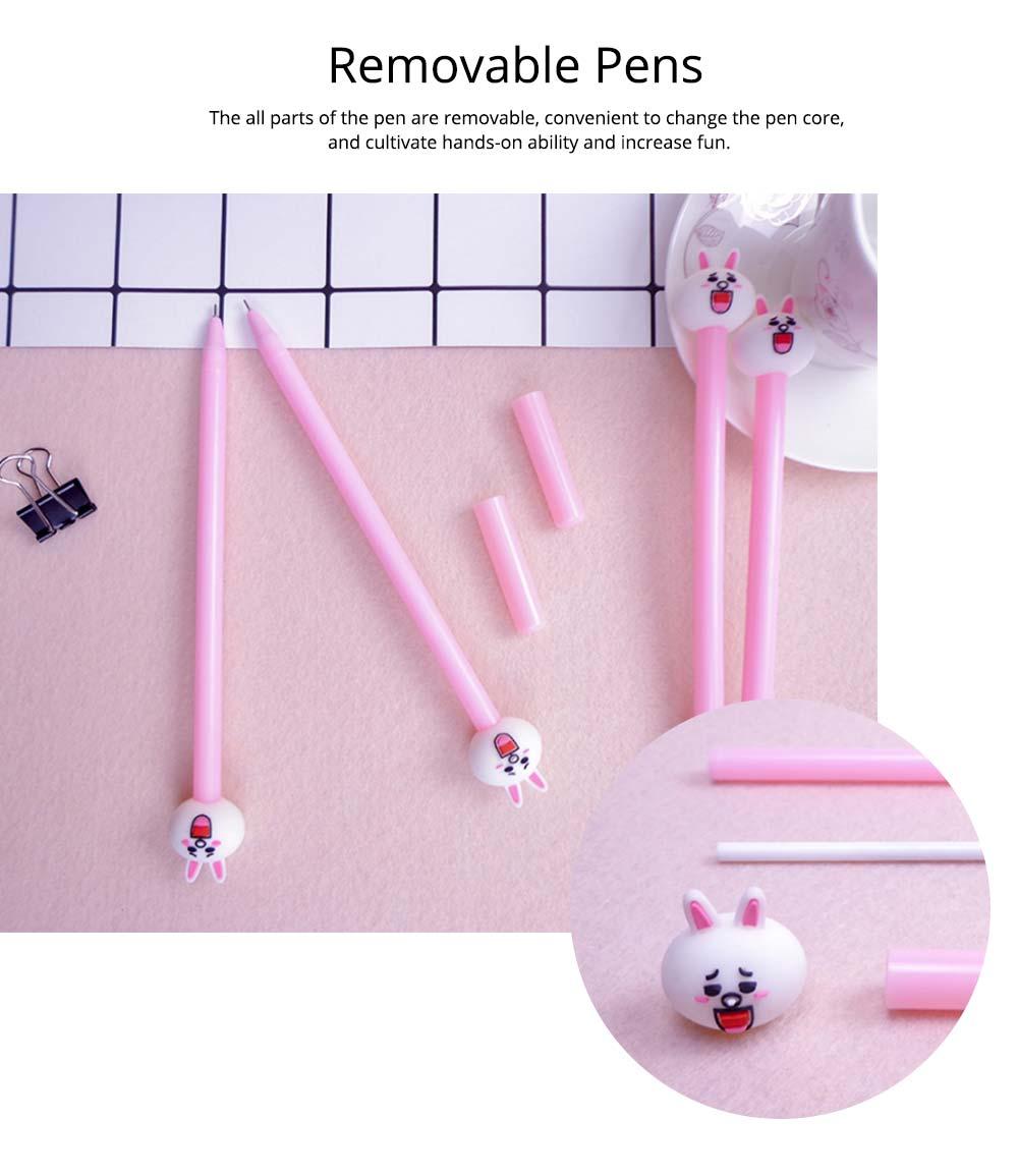 Cute Gel Pen - Cartoon Rabbit Neutral Pen Black,  0.38mm 11