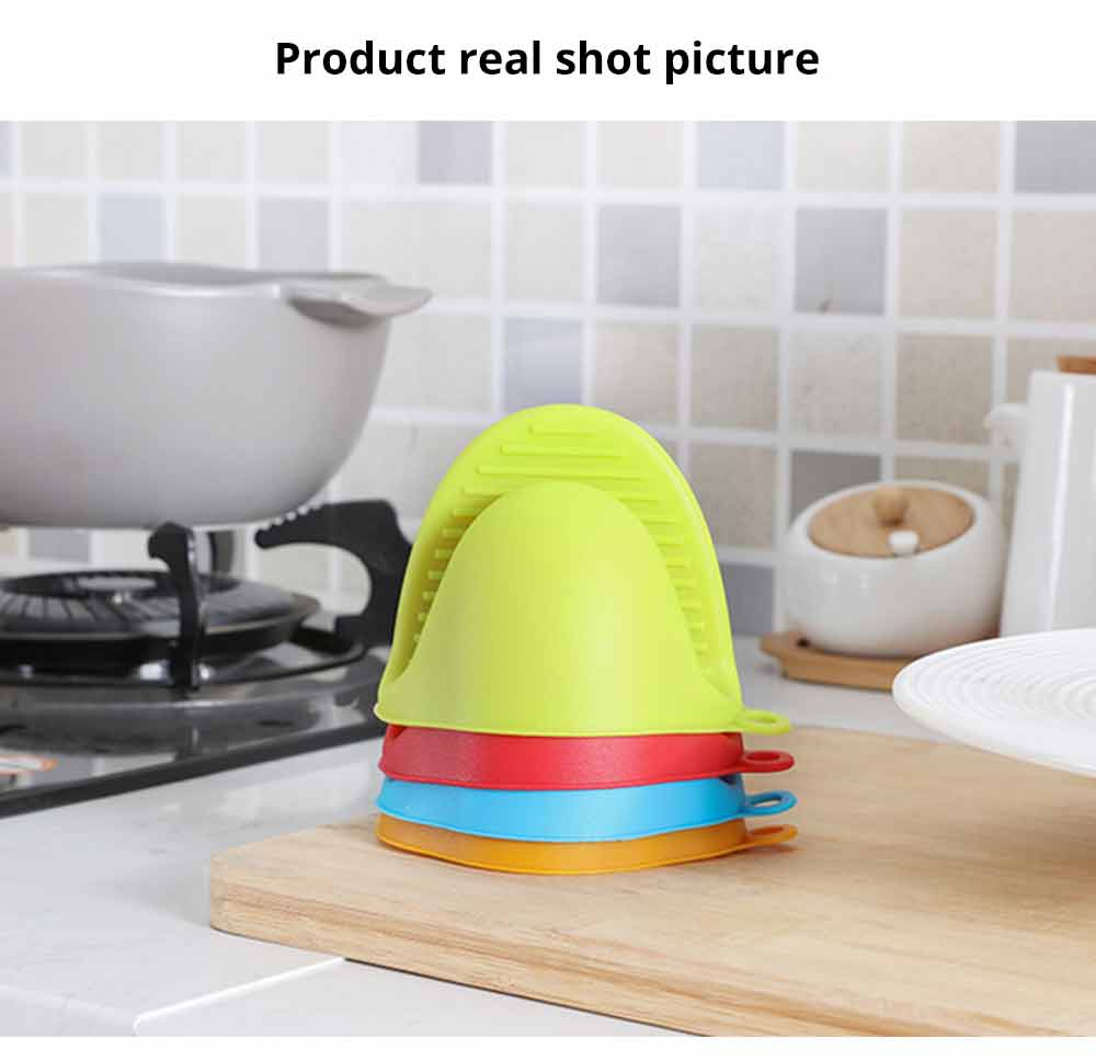 Microwave Oven Gloves, Silicone Heat Resistant Gloves Hot Pot Holder Kitchen Baking Oven Mitts 5