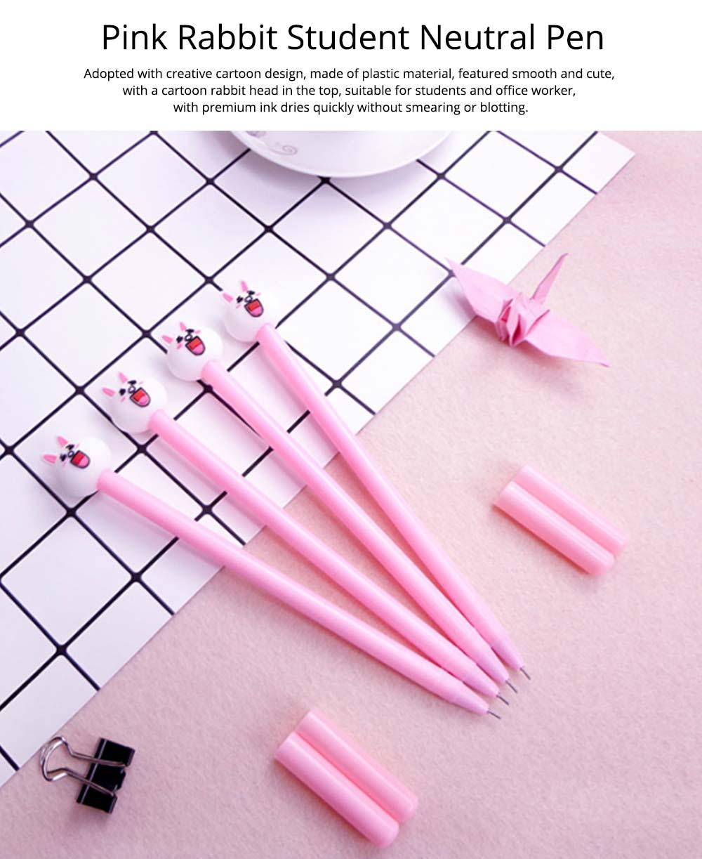 Cute Gel Pen - Cartoon Rabbit Neutral Pen Black,  0.38mm 7