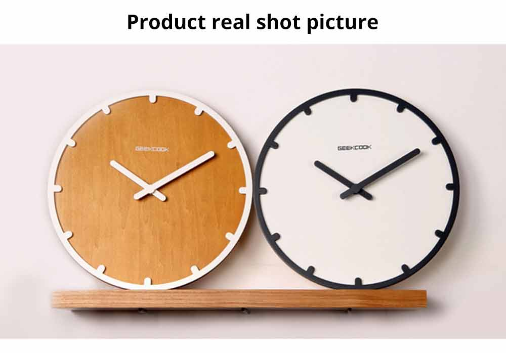 Number Wall Clock - Minimalist Modern Design Round Wall Clock, Silence 5