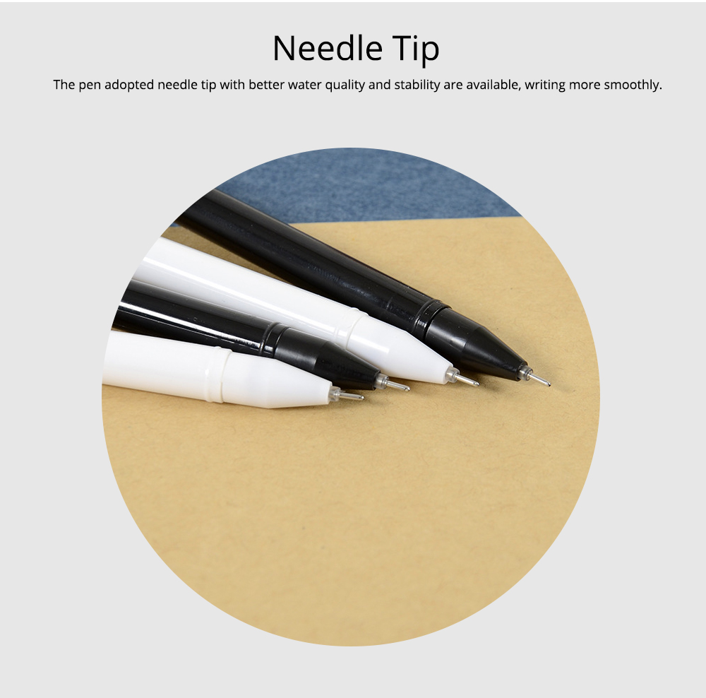 Neutral Pen - Special Catty Thin Pen Student Examination, Black, 0.5mm 12