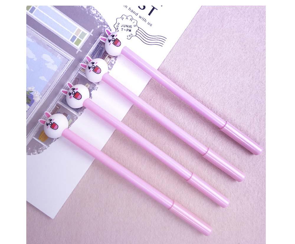Cute Gel Pen - Cartoon Rabbit Neutral Pen Black,  0.38mm 14
