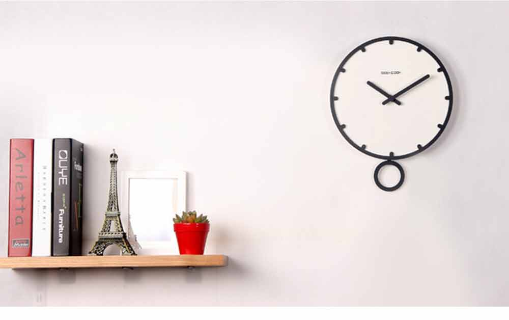 Number Wall Clock - Minimalist Modern Design Round Wall Clock, Silence 7