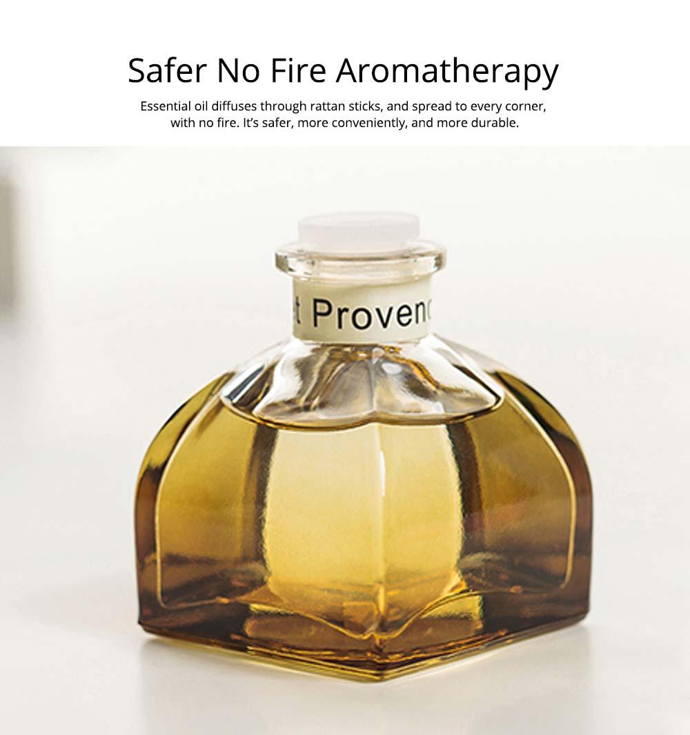 Home Perfume Diffuser - Rattan Ball Volatile Aromatic No Fire Safe Aromatherapy, Ground Glass Bottle, 50ml 4
