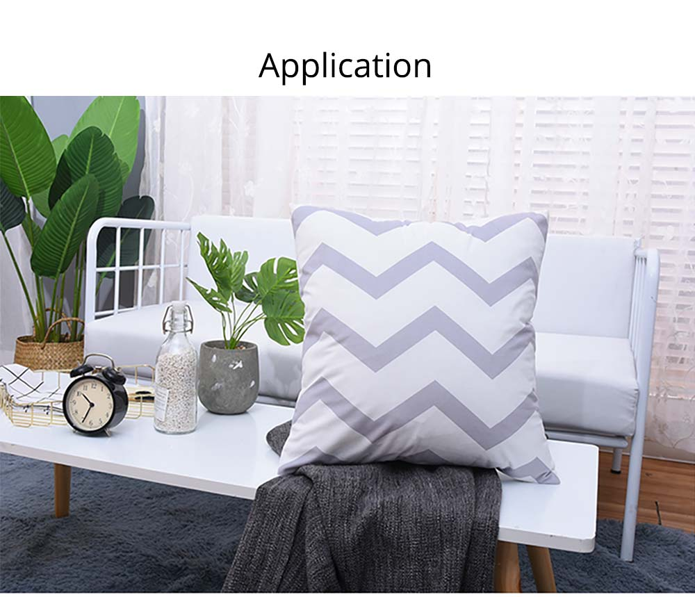 Plaid Pillowcase Chic European Style + Core Flannelette Cushion Cover, 45*45cm 8