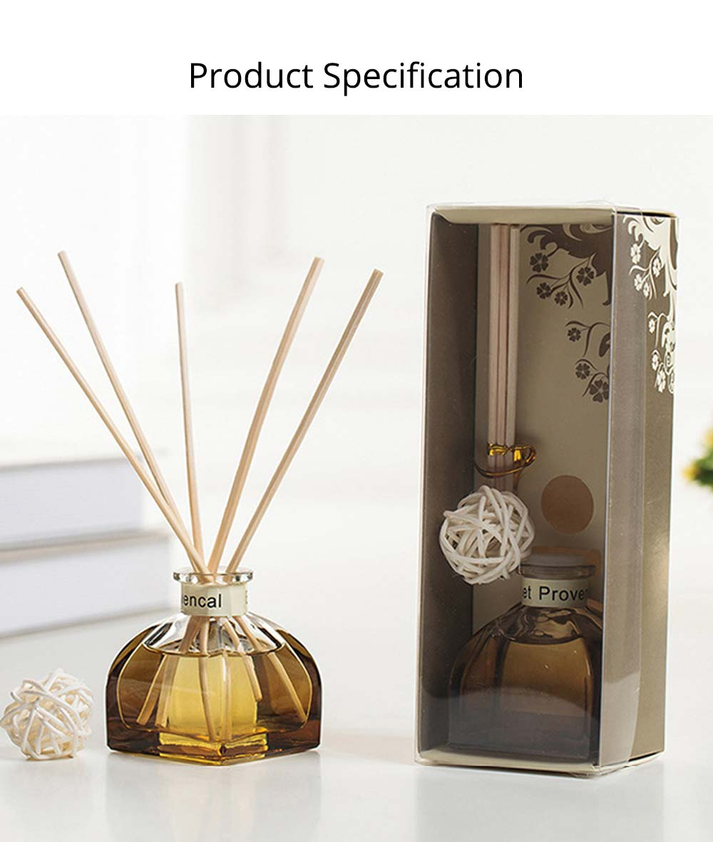 Home Perfume Diffuser - Rattan Ball Volatile Aromatic No Fire Safe Aromatherapy, Ground Glass Bottle, 50ml 13