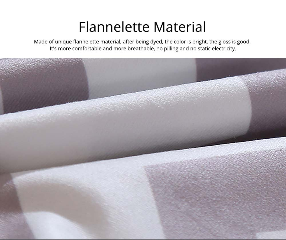 Plaid Pillowcase Chic European Style + Core Flannelette Cushion Cover, 45*45cm 1