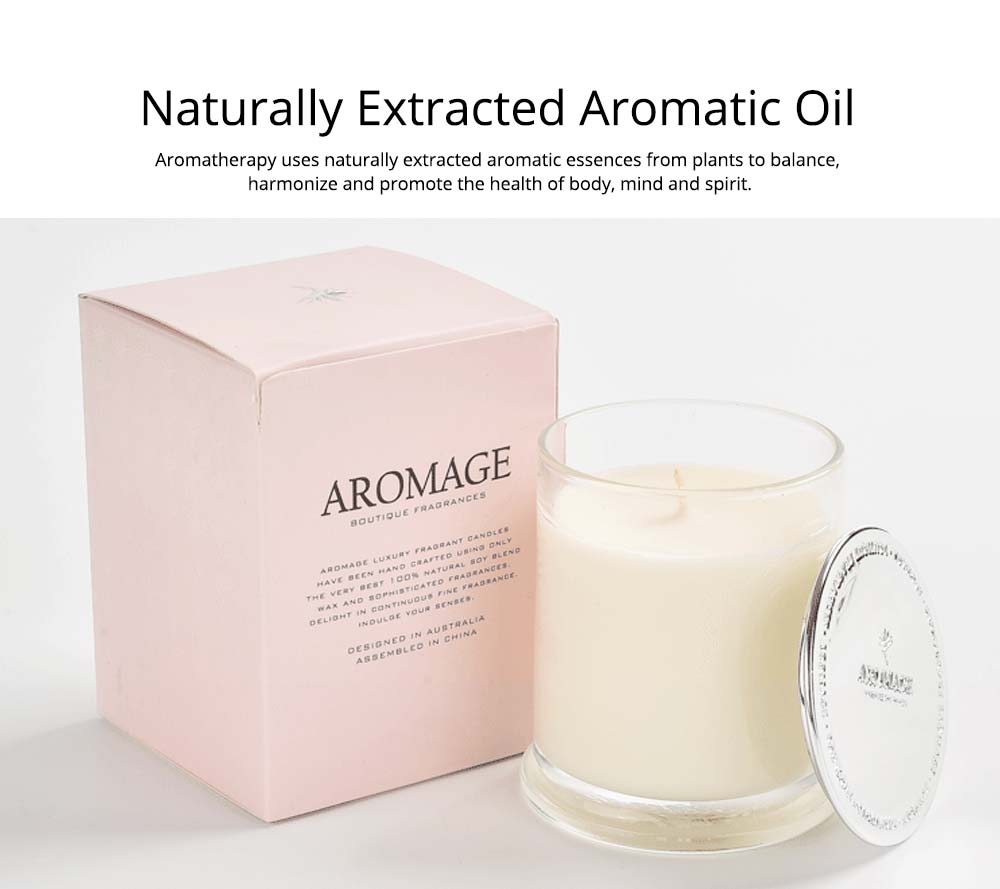Aromatherapy Candle - England Spice Environmental Soy Wax Scented Candles Deep Glass Bottle Home Decor - 210g 9
