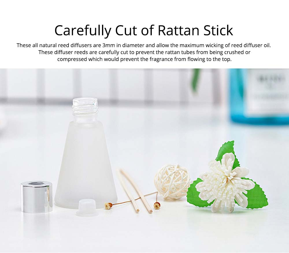Rattan Reed Diffuser Sticks for Essential Oil Aromatherapy Stick Diffuse No Fire Aroma Set 50ml 4