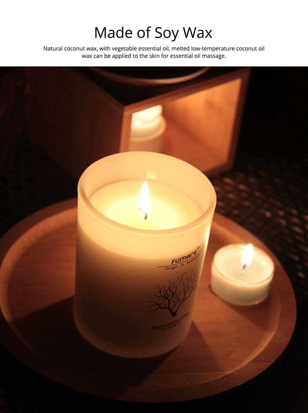 Fragrance Soy Wax Aromatherapy Candle Scented Jar Candles for Stress Relief & Relaxation 2