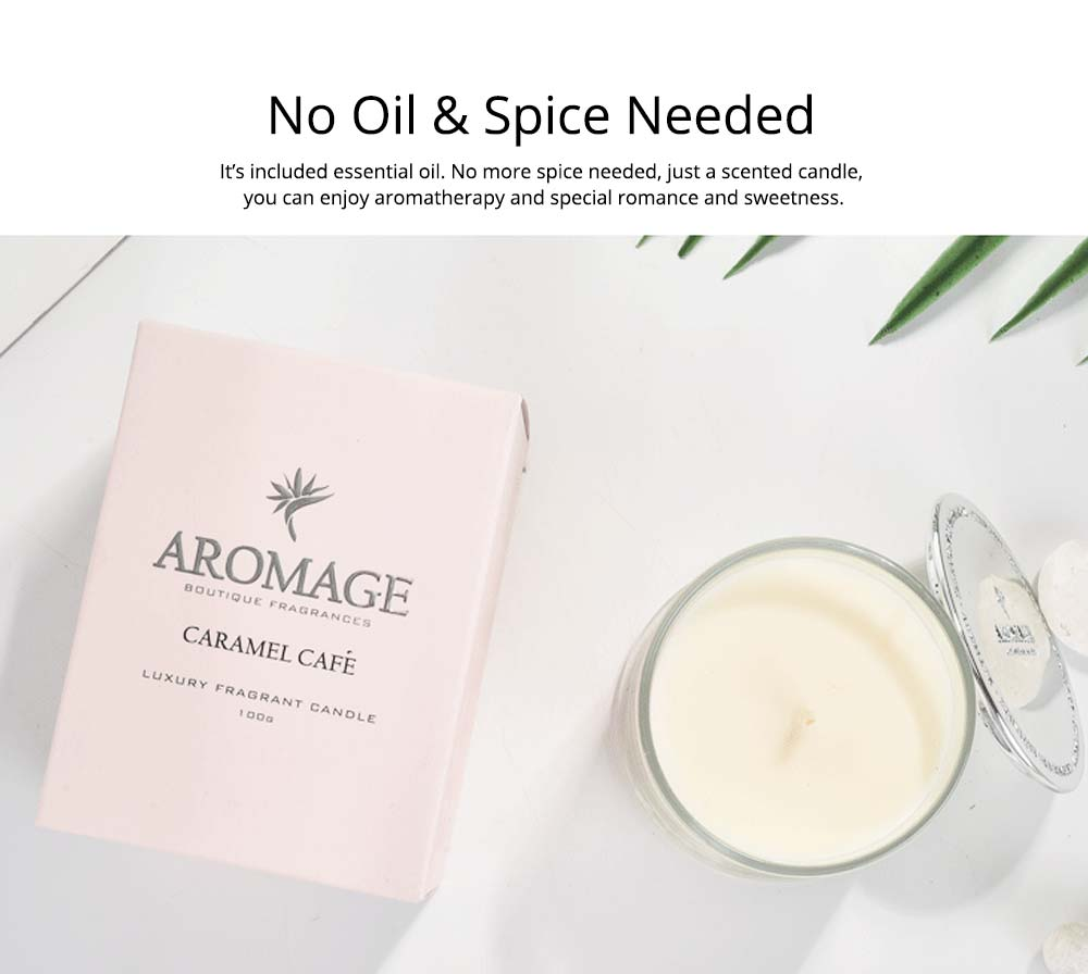 Aromatherapy Candle - England Spice Environmental Soy Wax Scented Candles Deep Glass Bottle Home Decor - 210g 11