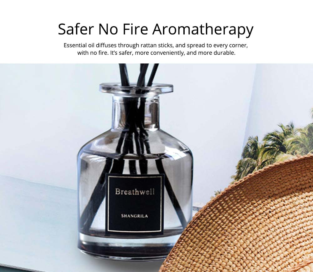 No-Fire Aroma Diffuser Home Fragrance - High-End Rattan Sticks Aromatherapy with Colorful Glass Bottle, 125ml 4