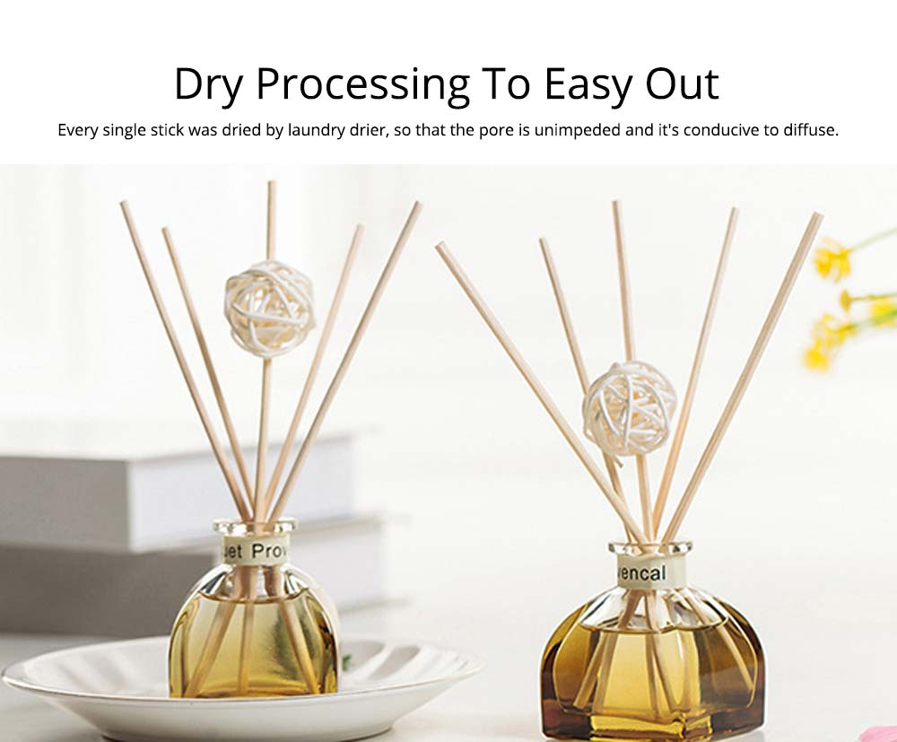 Home Perfume Diffuser - Rattan Ball Volatile Aromatic No Fire Safe Aromatherapy, Ground Glass Bottle, 50ml 9