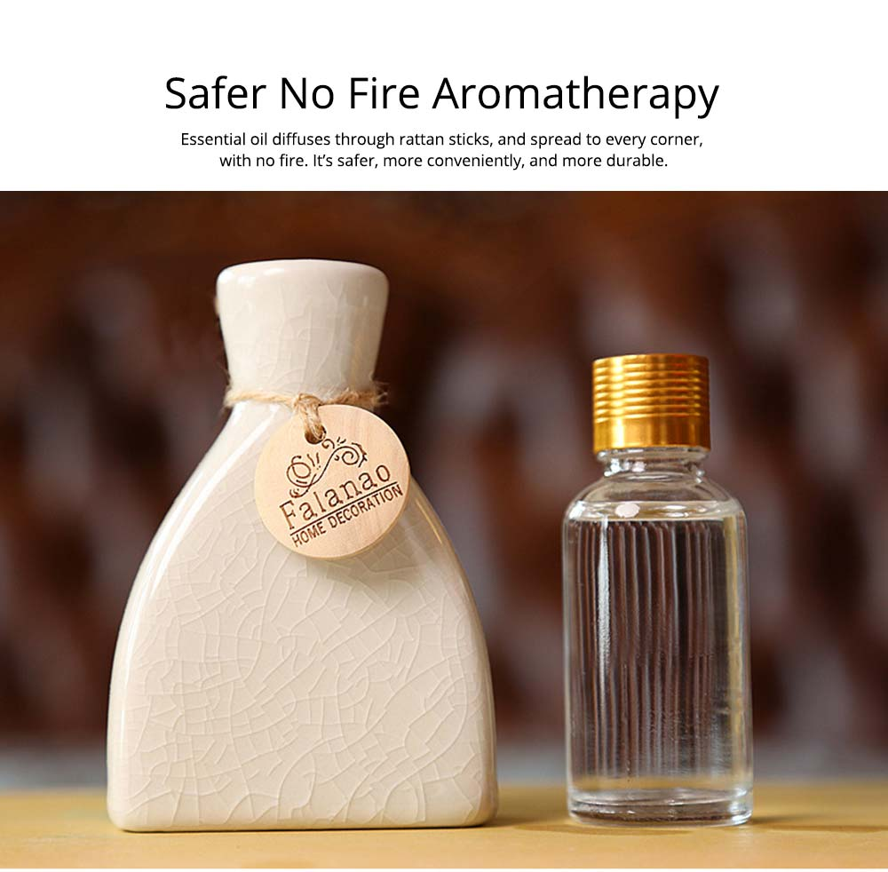 Volatile Aroma - Vintage Rattan Aromatic Wood Flower Home Aromatherapy, White Ceramic Bottle, 30ml 14