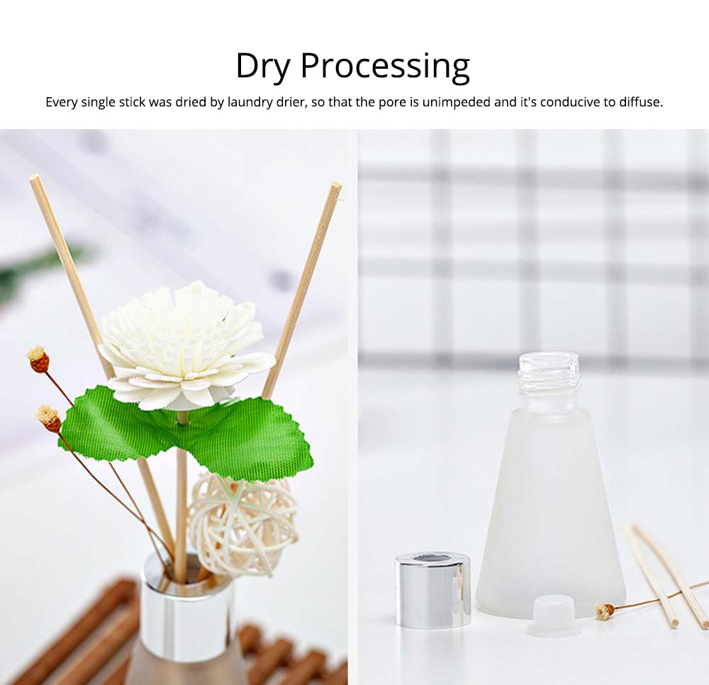 Rattan Reed Diffuser Sticks for Essential Oil Aromatherapy Stick Diffuse No Fire Aroma Set 50ml 3