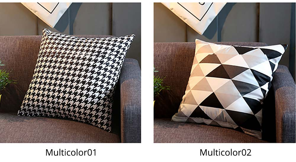 Plaid Pillowcase Chic European Style + Core Flannelette Cushion Cover, 45*45cm 11