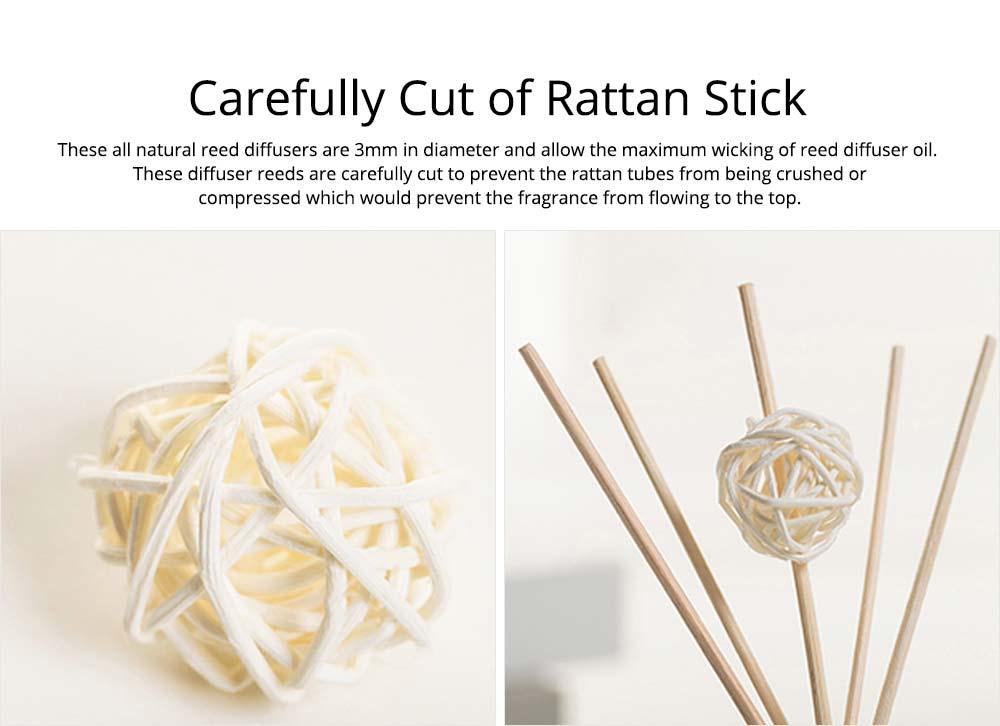 Home Perfume Diffuser - Rattan Ball Volatile Aromatic No Fire Safe Aromatherapy, Ground Glass Bottle, 50ml 3