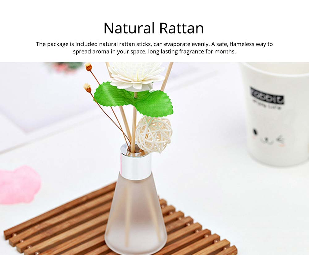 Rattan Reed Diffuser Sticks for Essential Oil Aromatherapy Stick Diffuse No Fire Aroma Set 50ml 2