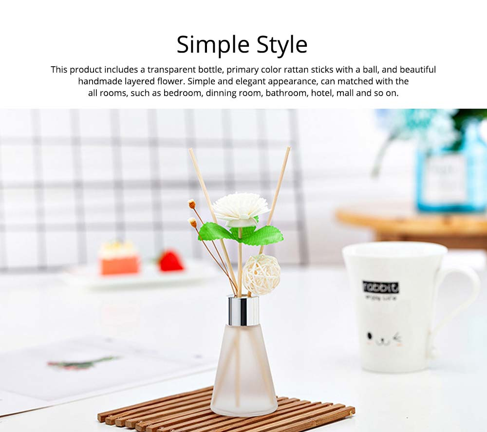 Rattan Reed Diffuser Sticks for Essential Oil Aromatherapy Stick Diffuse No Fire Aroma Set 50ml 6