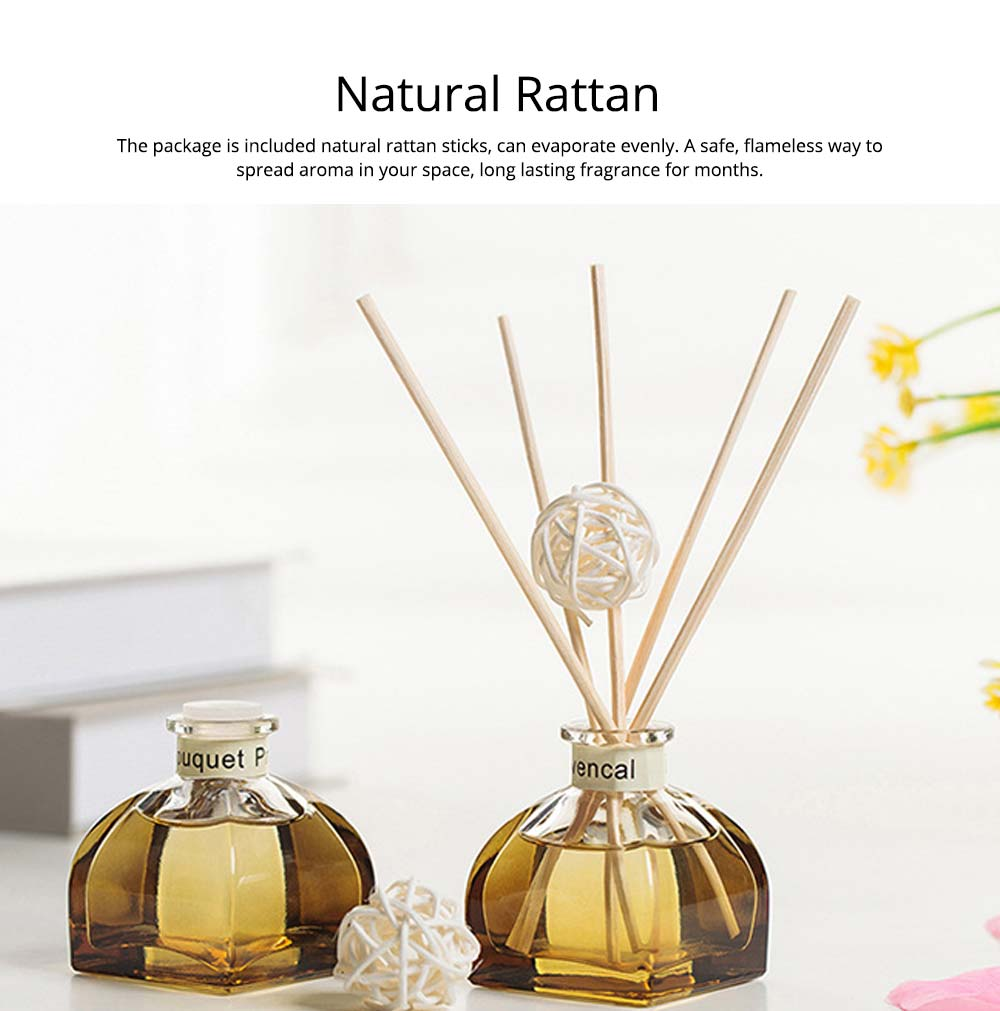 Home Perfume Diffuser - Rattan Ball Volatile Aromatic No Fire Safe Aromatherapy, Ground Glass Bottle, 50ml 8