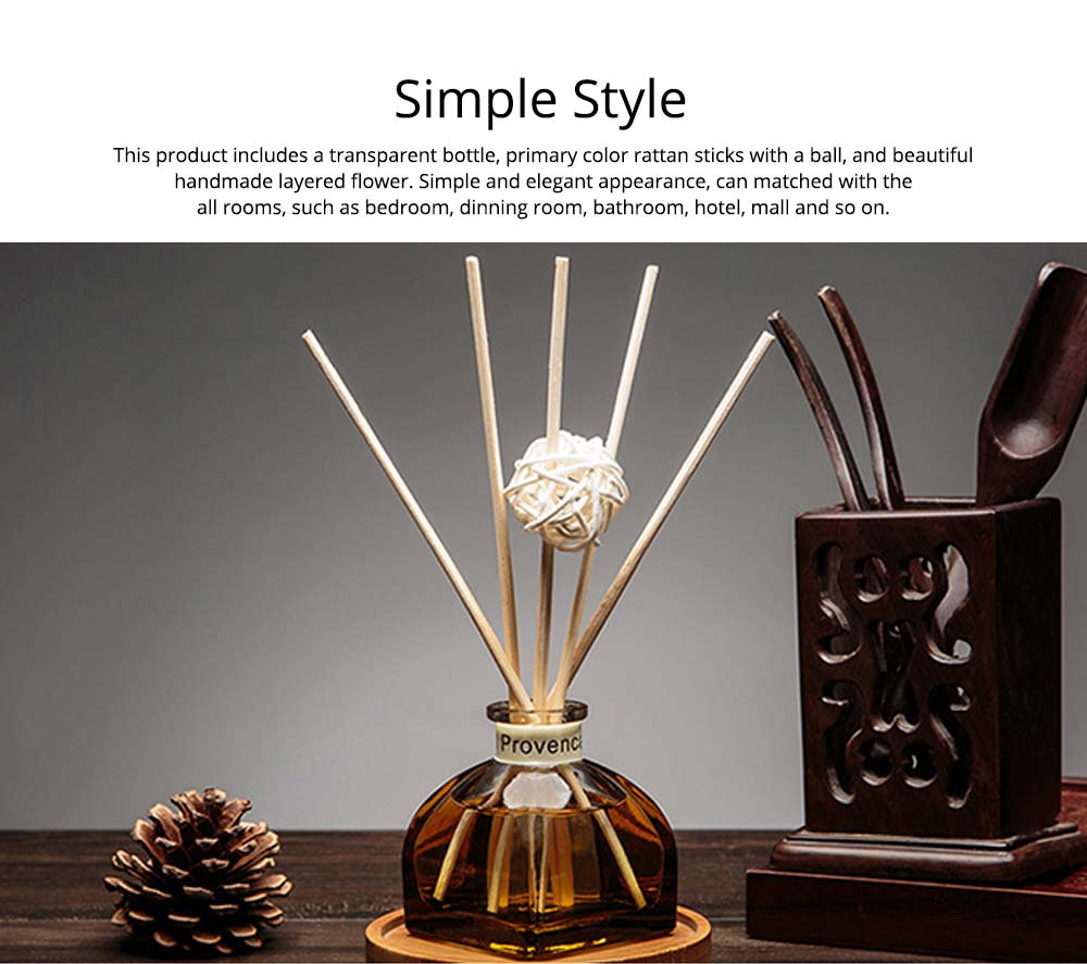 Home Perfume Diffuser - Rattan Ball Volatile Aromatic No Fire Safe Aromatherapy, Ground Glass Bottle, 50ml 12