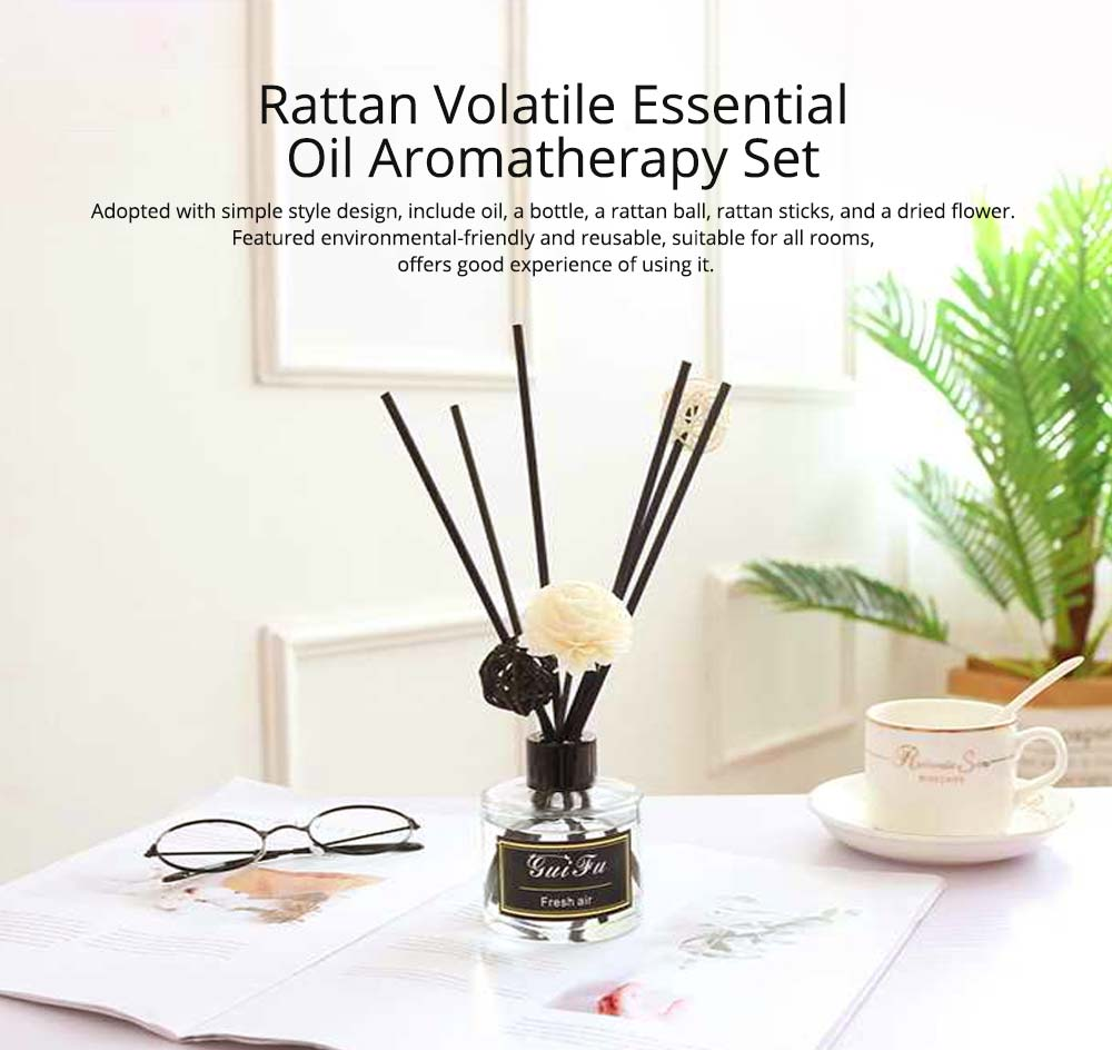 Essential Oil Home Fragrance - No Fire Rattan Aroma Volatile Aromatic Fragrance Aromatherapy,  120ml 0