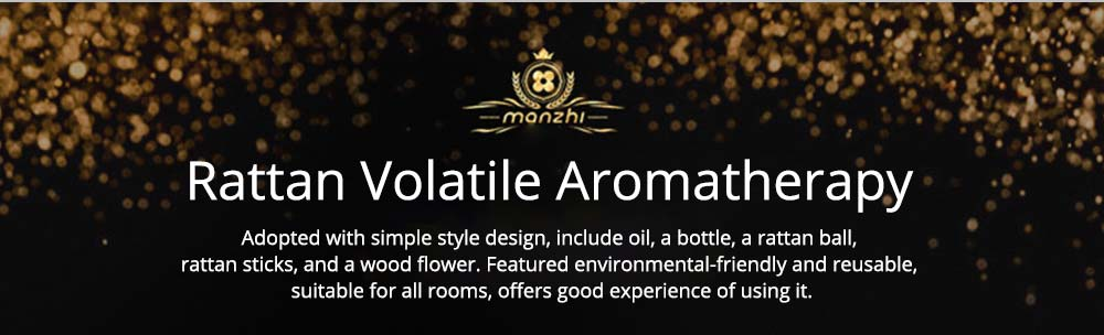 Volatile Aroma - Vintage Rattan Aromatic Wood Flower Home Aromatherapy, White Ceramic Bottle, 30ml 7
