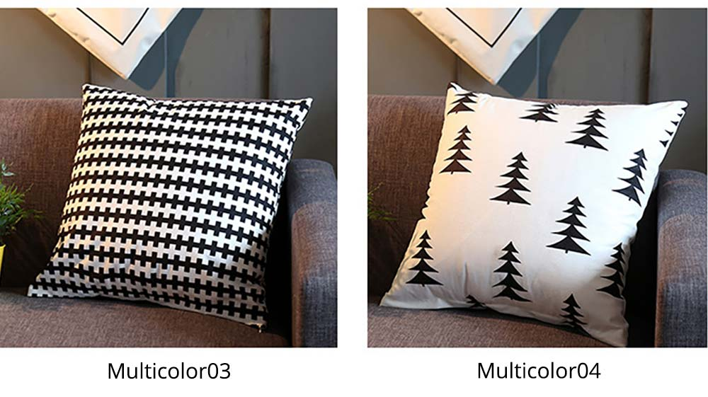 Plaid Pillowcase Chic European Style + Core Flannelette Cushion Cover, 45*45cm 12