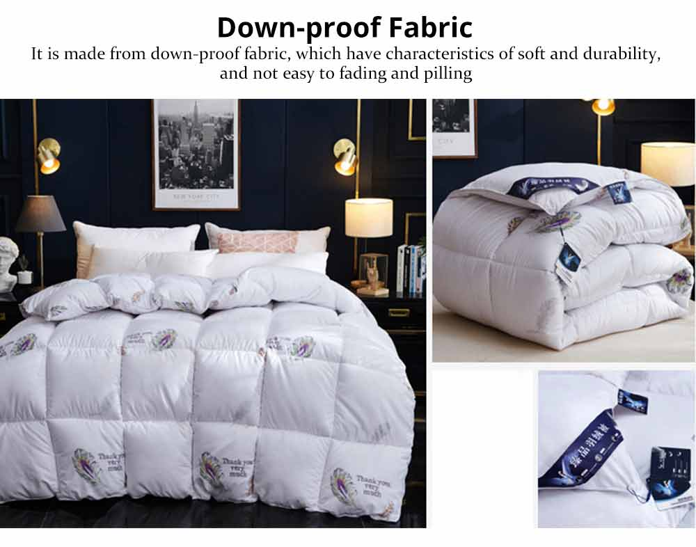 Goose Down Quilt - Single Double King Size Bed Sheet, Duvet Cover, Sets Duvets 1