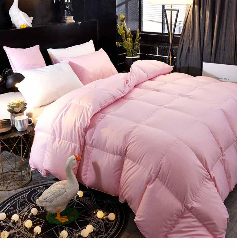 95 Goose Down Quilt  - Thicken Winter Peluche Duvet, Single Double King Size Bed Sheet, Sets Duvets 5