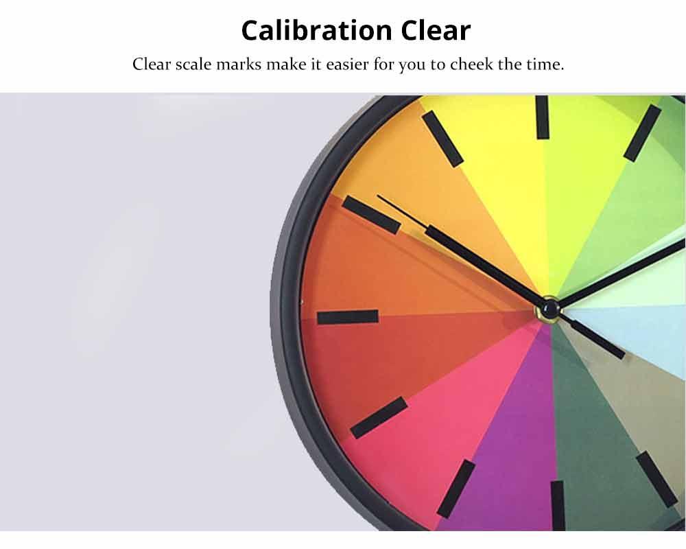 Rainbow Wall Clock - Modern Design Silence Round Clock 4