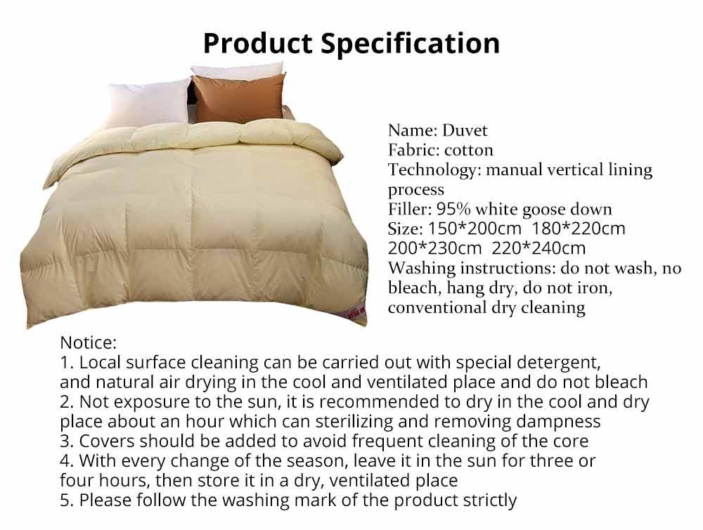 95 Goose Down Quilt  - Thicken Winter Peluche Duvet, Single Double King Size Bed Sheet, Sets Duvets 7