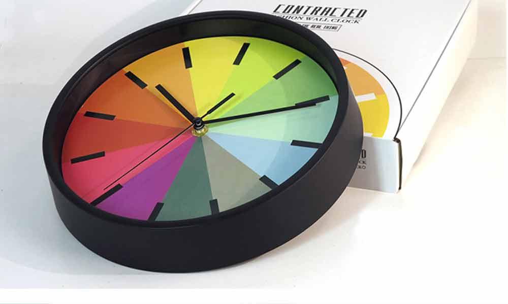 Rainbow Wall Clock - Modern Design Silence Round Clock 7