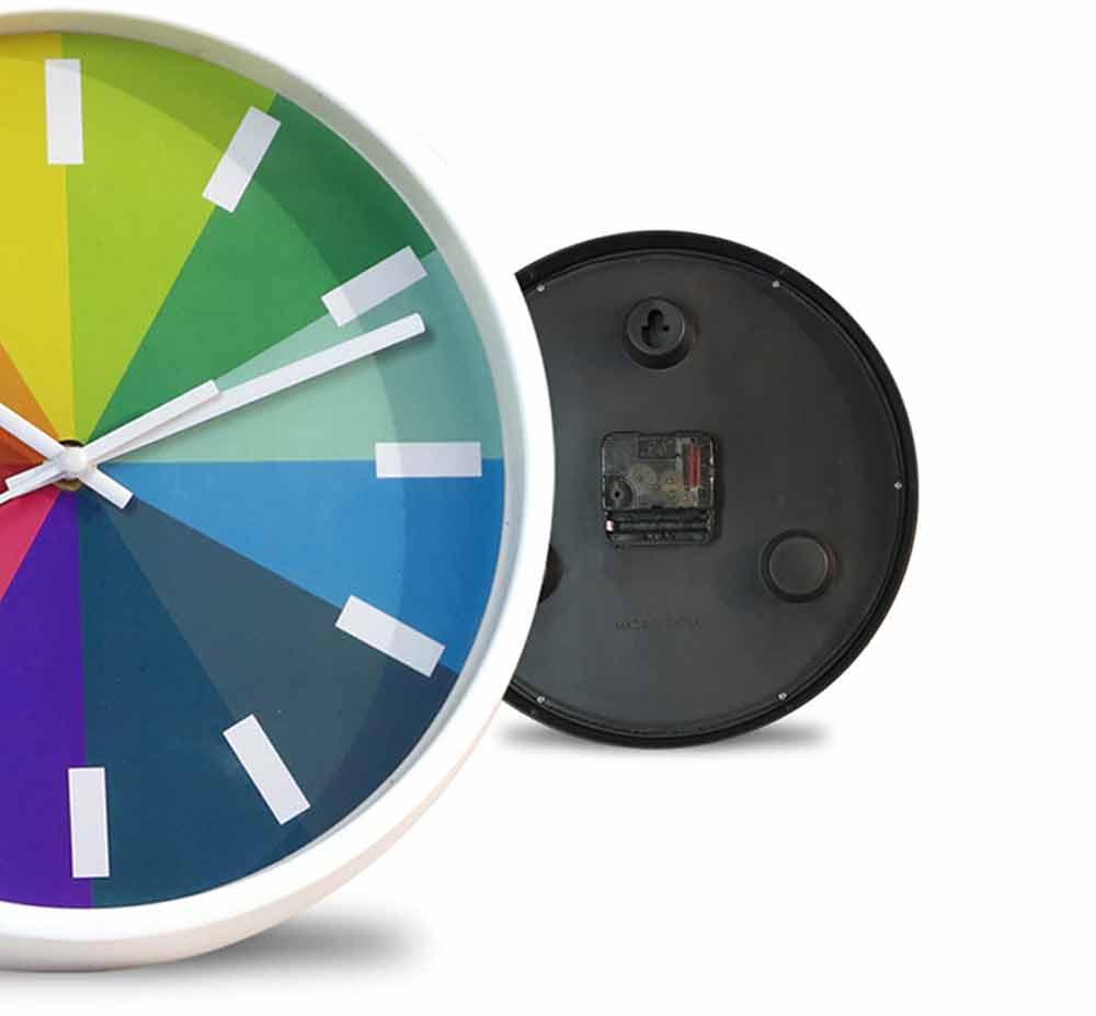 Rainbow Wall Clock - Modern Design Silence Round Clock 9