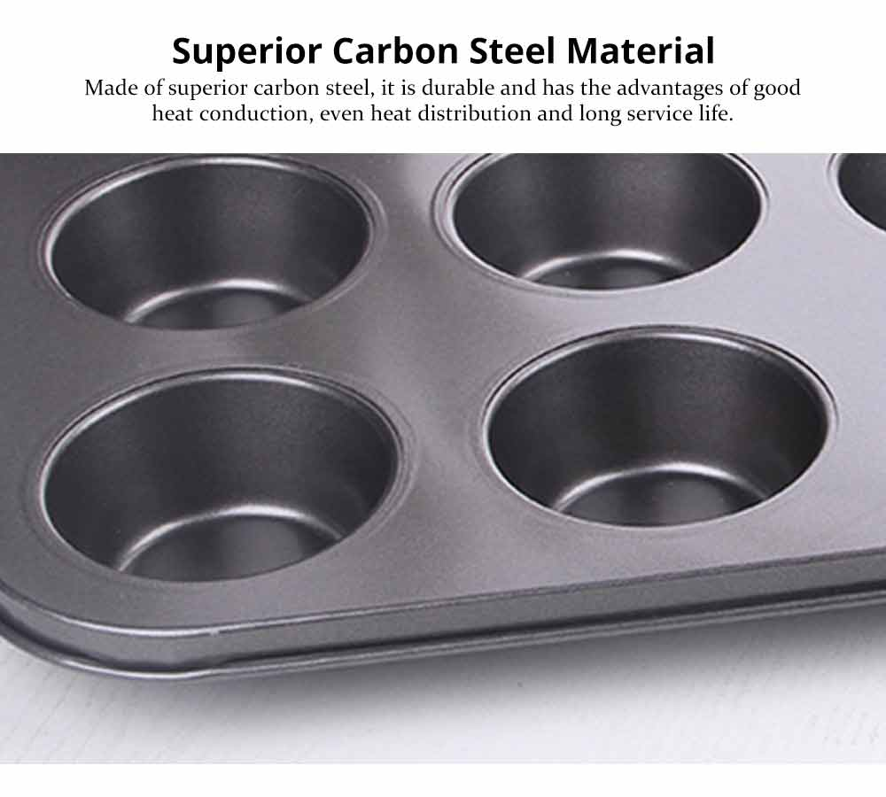 Nonstick Muffin Baking Pan Tart Mold, Durable Round Cake Mould 1