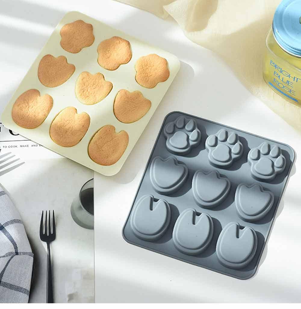 Cartoon Cake Mould, Paws Nonstick Baking Mold, Durable Soap Mold 13