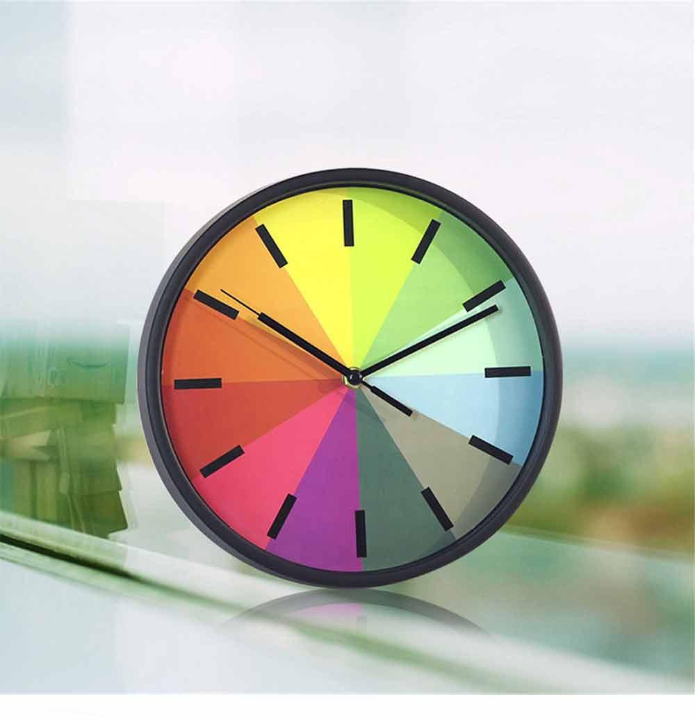 Rainbow Wall Clock - Modern Design Silence Round Clock 8