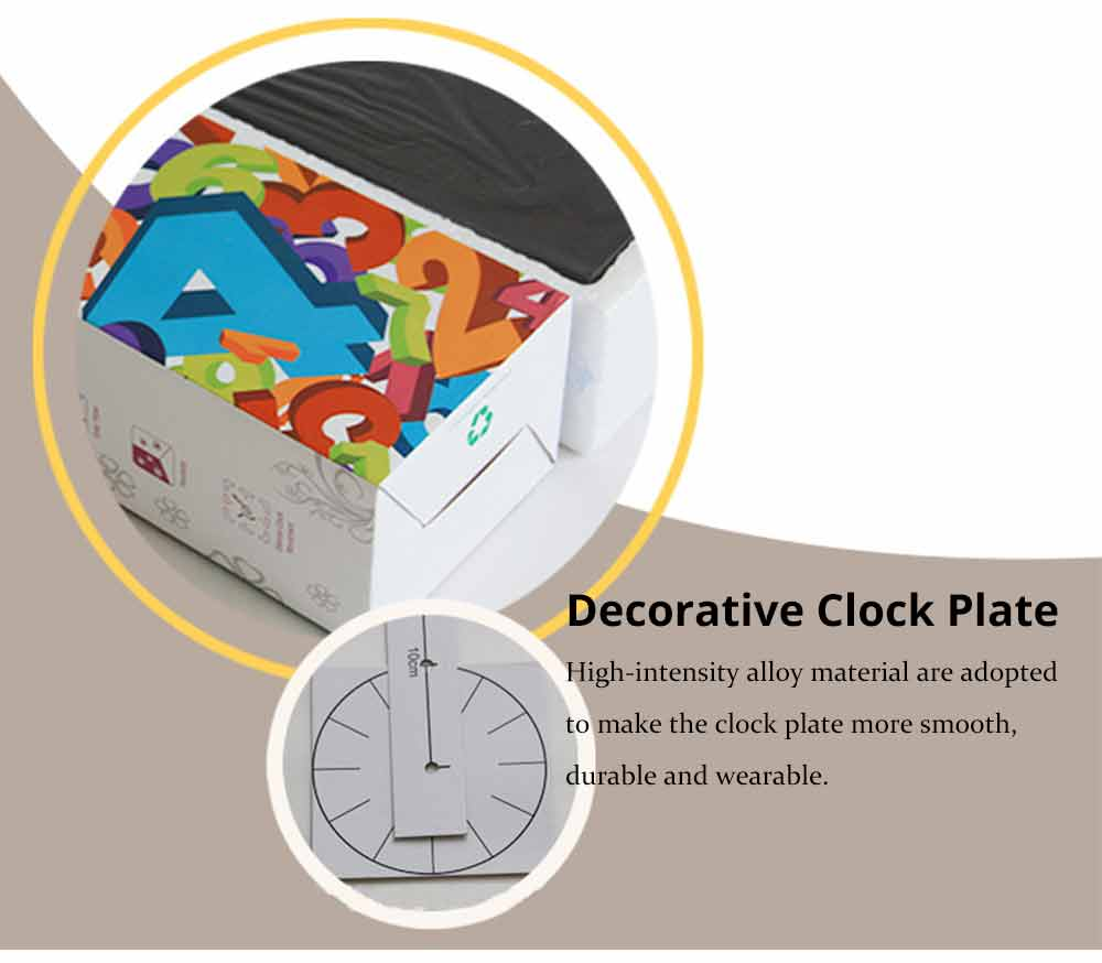 Creative DIY Wall Clock, Stylish Wall Clock With Large Number And Acrylic Mirror 6