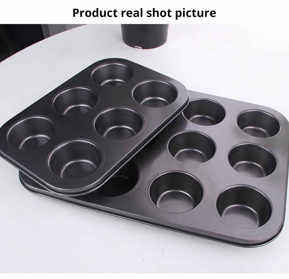 Nonstick Muffin Baking Pan Tart Mold, Durable Round Cake Mould 5